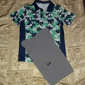 Boys UA short outfit